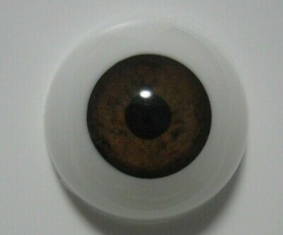 Reborn doll eyes 20mm Half Round  BROWN