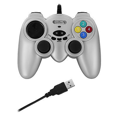 JOYPAD COMPETITION PRO POWERSHOCK CONTROLLER GAMEPAD USB PS3 per PC