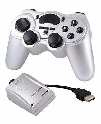JOYPAD PLAYON POWERSHOCK CONTROLLER GAMEPAD USB WIRELESS per PC