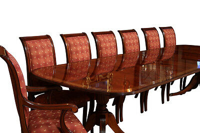 Fine American Finished Mahogany Dining Table Seats 14 People | Table only