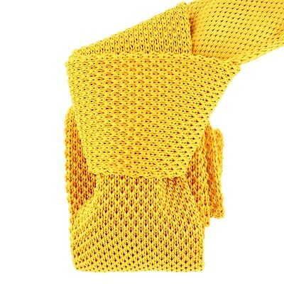 Cravate Tricot. Jaune bouton d'or