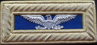 Civil War Infantry Colonel Shoulder Boards Extra Rich Blue Straps Free $20 Coin