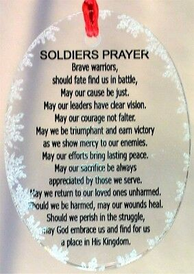 Soldiers Prayer Crystal Snowflake Ornament USA