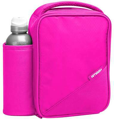Smash Pink Lunch Bag/Box and 500ml Bottle Set | Lunchboxes for Girls/Ladies