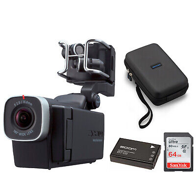 Zoom Q8 Handy Video Recorder with Carrying Case, 64GB SD Card and BT-03 Battery