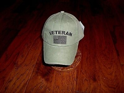 c4aaeabd U.s Military Veteran Hat U.s American Flag Embroidered Ball Cap Stonewashed