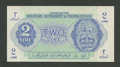 (BRITISH) MILITARY AUTHORITY TRIPOLITANIA - 2 lire  1945  About EF ( Banknotes )