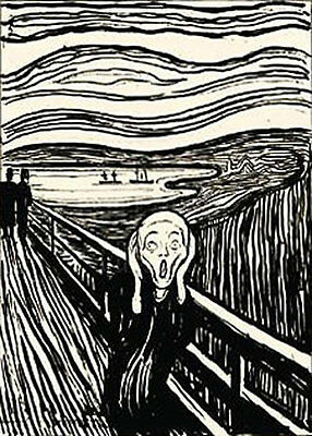 The Scream serigraph by Edvard Munch Classic Landscape People Print Poster 18x24