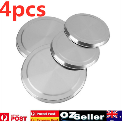 4pcs Set Round Stainless Steel Stove Top Cover Cooktop Protect Burner Protectors