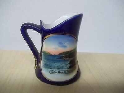"Vintage Antique Germany Souvenir Digby Gap Nova Scotia Creamer 3"" Beautiful Tr"