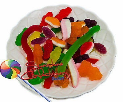 Gluten Free Mixed Gummy Lollies - 1KG - Wheat Free Sweets, Party Treats