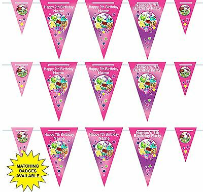 Personalised Shopkins Birthday Bunting 3m-15 pendants, name/age