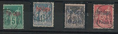 55040 - FRENCH COLONIES:  PORT LAGOS - STAMPS:  YVERT 1 + 3/5 Used - VERY FINE!!