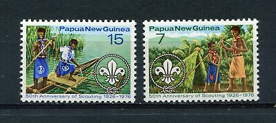 s8707) PAPUA & NEW GUINEA MNH**1976, Scouting 2v