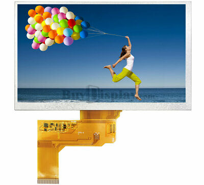 """7"""" 7.0 inch 800x480 TFT LCD Display w/Option Capacitive or Resistive Touch Panel"""