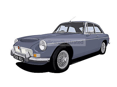 Mgc Gt Car Art Print Picture (Size A4). Personalise It!