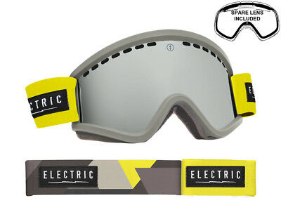 Electric EGV Snow Goggles DUB - Bronze/Silver Chrome + Bonus Green Lens