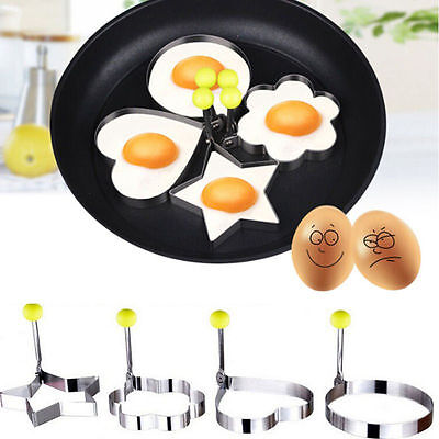Stainless Steel Pancake Mould Mold Ring Cooking Fried Egg Shaper Kitchen Tool