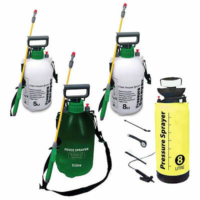 Garden Pressure Sprayer Knapsack Weedkiller Fence Chemical Water Spray Bottle