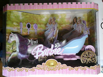 Barbie - Mini - Horse And Carriage - Cavallo E Calesse - Mattel