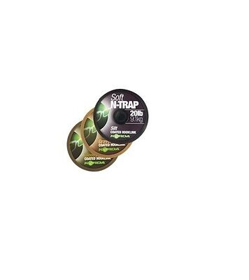 Korda NEW N-Trap Soft Coated Fishing Braid Hooklink *All Colours*