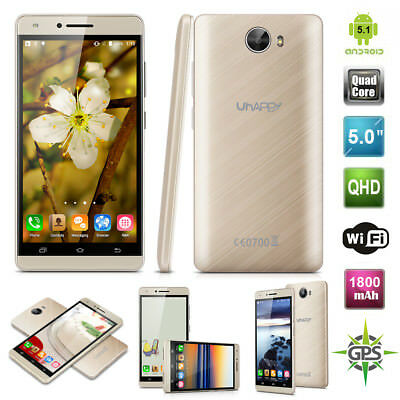 "3G 5,0"" UHAPPY V5 Android 5.1 Quad Core 8GB 8MP Móvil Libre Celular Smartphone"