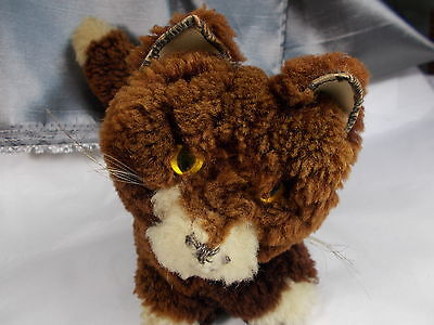 LOVELY VINTAGE 1930's CLOCKWORK WIND UP MUSICAL SOFT TOY CAT  three blind mice