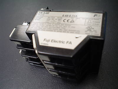 Fuji thermal overload relay TK-E02  (.48-.72A)