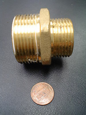 "1 1/4"" x 1"" Brass Reducing Coupler (parallel x pipe)"