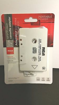 RCA AH760R Auto Car Cassette Adapter for iPhone, Smartphone, MP3