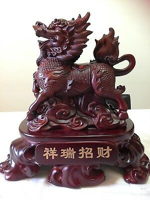Handmade Crafted Wooden Dragon Statue/ Figure
