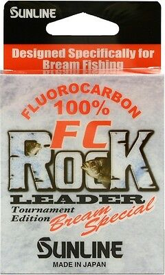 Sunline FC Rock BREAM SPECIAL Fluorocarbon Fishing Leader Line 50m - Choose Size