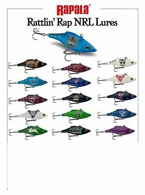 NRL RAPALA RATTLIN' Rap 7cm Official NRL LURES Footy Team Fishing PERFECT GIFT