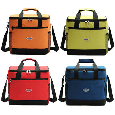 Large Insulated Cool Bag Outdoor Camping Picnic Shoulder Bag Coolers Lunch Box