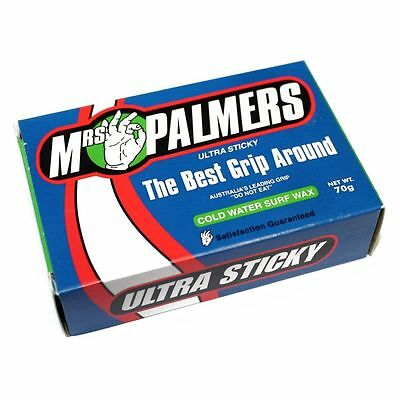 Mrs Palmers Surf Wax (Cold- Single) Mens Unisex Surfing Surf Watersports New