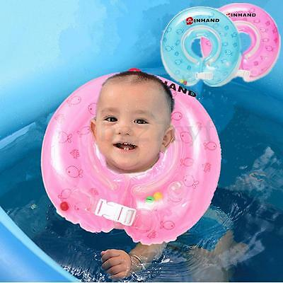 Baby Infant Swimming Pool Bath Beach Neck Floating Inflatable Ring Safety Fun