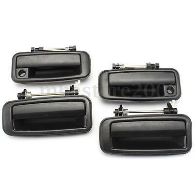 4PCS A Set Outside Exterior Door Handles Right Left Front Rear For Corolla 88-92
