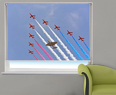 red arrows in formation Aviation Printed Photo Picture Roller Blinds Any Size