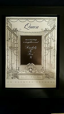Queen Somebody To Love Rare Original Promo Poster Ad Framed!
