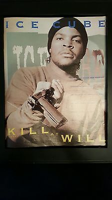 Ice Cube Kill At Will Rare Original Promo Ad Framed!