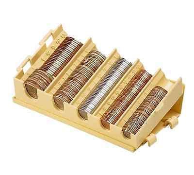5 Compartment Compact Coin Counters Sorters Organizer Hold Pennies Dollars Dimes