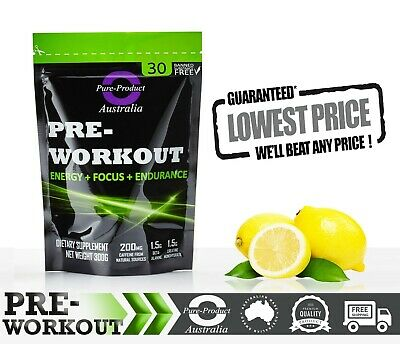 Pre Workout 30 Serves  Lemonade  Preworkout