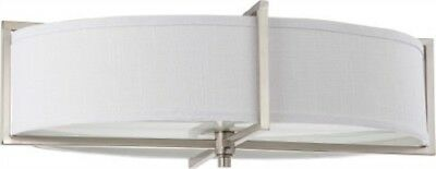 Nuvo 60-4349 - Large Flush Mount Ceiling Light Fixture in Brushed Nickel Finish