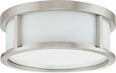 Nuvo 60-3811 - Small Flush Mount Ceiling Light in Brushed Nickel Finish