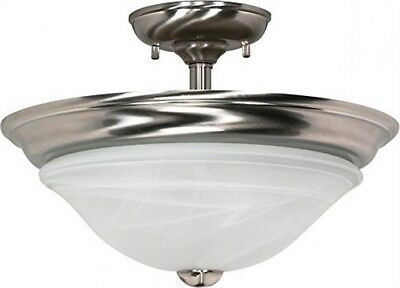 Nuvo 60-589 - Dome Semi Flush Ceiling Light Fixture in Brushed Nickel Finish