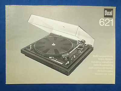 Dual 621 Turntable Owners Manual Original Factory Issue