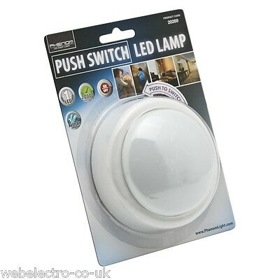 20269 Battery Operated Push ON/OFF Touch Night Light Round LED Lamp