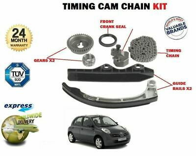 For Nissan Micra 1.2 1.4 C+C K12 Ck12 2002-2010 New Timing Cam Chain Kit