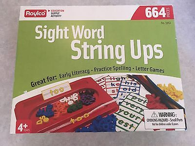 Roylco Sight Word String Ups Early Literacy Game Education