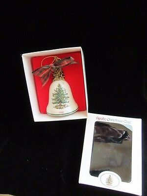 Spode Christmas Tree Bell Ornament 1998